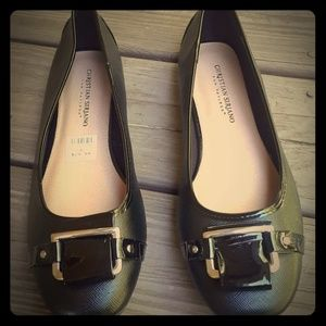 CHRISTIAN SIRIANO patent ballet flats  9.5